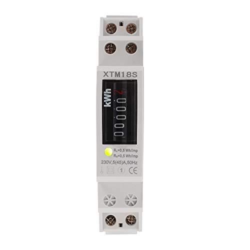 Digital LCD-Einphasen 1P DIN Schiene Stromzähler XTM18S 230V 5-45A kWh-Meter