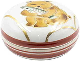 熊の冬眠香合(隆山作) 化粧箱入 [5.8×3cm 101g]