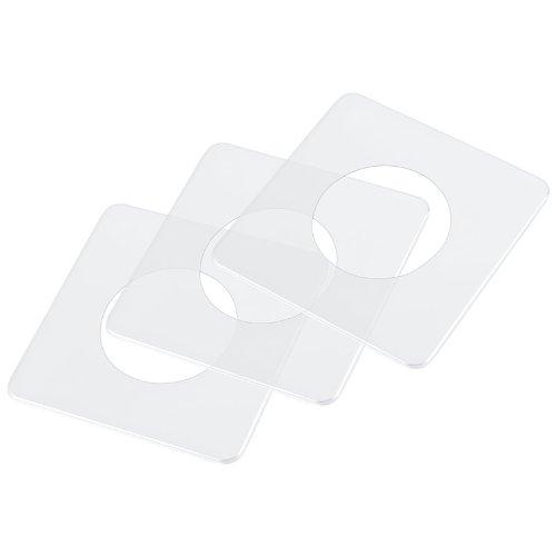 pekarek® Schutz / Dekor Platte Transparent – Für Licht Schalter und Steckdosen 1 fach (5 Stück)