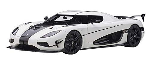 Koenigsegg Agera RS White and Carbon Black 1/18 Model Car by Autoart 79021