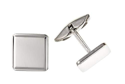 Sterling Silver Place Plaine Cufflinks
