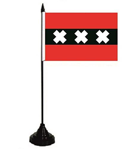 U24 tafelvlag Amsterdam vlag tafelvlag 10 x 15 cm