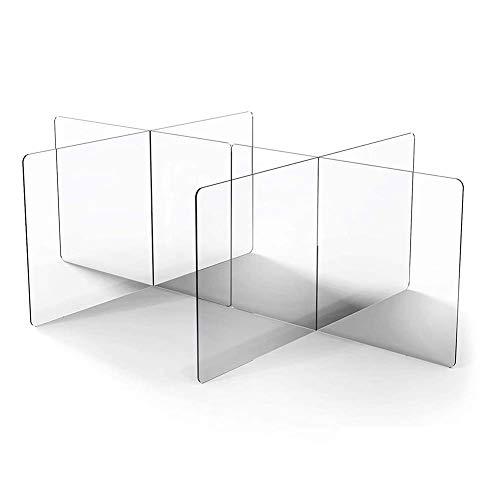 XNDCYX Protective Sneeze Guard Shield Table Divider, Protective Barrier, Transparent Plexiglass Protection, Freestanding Plexiglass Shield for Round/Square Tables,C
