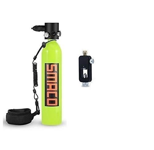 QPLKL Scuba Gear Equipo de Buceo con escafandra del Tanque, 0.7L Mini bucear Cilindro con 8-14 Minutos de Capacidad por Buceo bajo el Agua