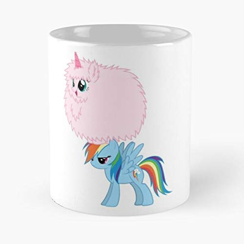 Awesomdeals Fluffle MLP Dash Puff Rainbow Fim Best 11 oz Kaffeebecher - Nespresso Tassen Kaffee Motive