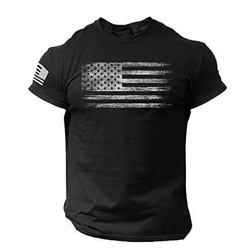 Erfula Hombres niños Camiseta Verano Americano Bandera patrón Transpirable Top Camiseta Verano Americano Bandera patrón Transpirable Top para Hombres Camisetas de Manga Corta Tops Hombres Noble