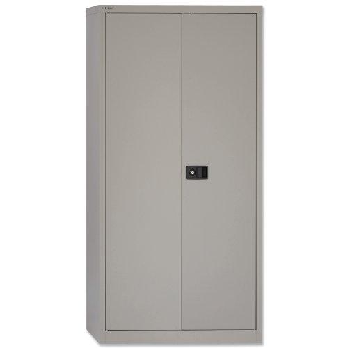 Trexus Storage Cupboard Steel 2-door W914x D400x H1806MM Grey