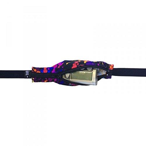 Originele SPIbelt SPI Kid's heuptas - looptas voor kinderen, verstelbare, elastische heuptas voor sport of medische spullen, Running riemtas, Rave met zwarte rits