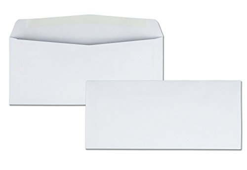 Quality Park Business Envelope, 10, 4 1/8 x 9 1/2, White, 500/Box (90020)