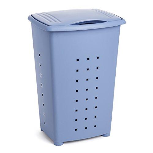 TATAY 1100600 - Millenium Cesto para Ropa Sucia con Tapa, 60 l de Capacidad, Plástico Polipropileno, Azul, 43 x 35,5 x 64 cm