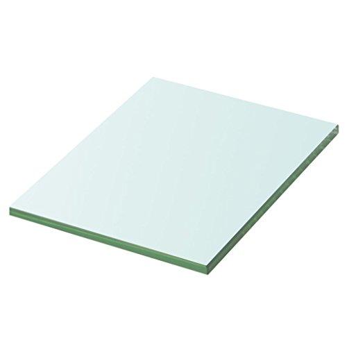 vidaXL Glasboden Glasscheibe Glasplatte für Glasregal Transparent 20 cm x 15 cm