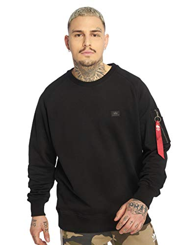 ALPHA INDUSTRIES Herren Pullover X-Fit schwarz L