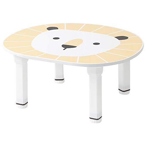 ルームアンドホーム キッズテーブル 折りたたみ 子供用 高さ調節 プチライオン 57×47×26cm オレンジ