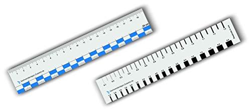 Sachverständigen-Zubehör 2er Set Rissbreitenlineal 20 cm   Dokumentationshilfe   praktisches Risslineal   Riss Karte Fotodokumentation   exaktes Rißlineal   Kfz Wertermittler   Gutachter