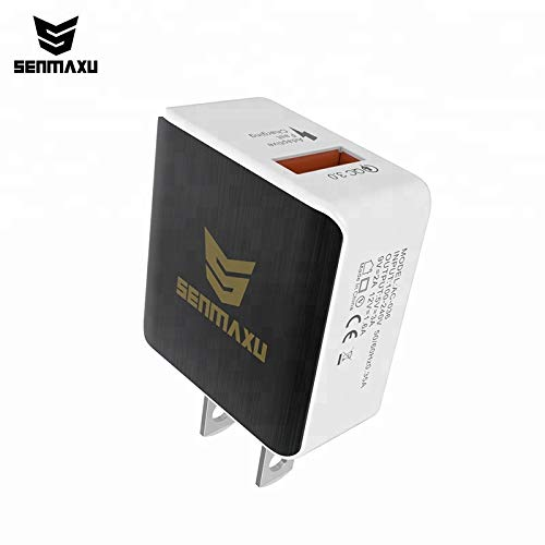 Quick Charge 3.0,18W USB Wall Charger Adapter Smart IC (Quick Charge 2.0 Compatible) PowerPort+ 1 for Galaxy S9/S8/Edge/Plus, Note 8/7, LG G4, HTC One A9/M9, Nexus 9, iPhone, iPad and More (Black)