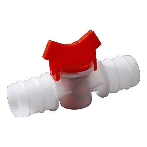 COEUGE Válvula De Aislador, Manguera Barba De Dos Vías Válvula De Bola De Plástico Jardín De Acuario Micro Conector De Riego (Size : 4mm-4mm)