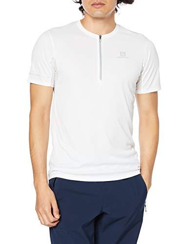 SALOMON Agile HZ SS tee M Camiseta Deportiva de Manga Corta, Hombre, Blanco (White/Lunar Rock), S