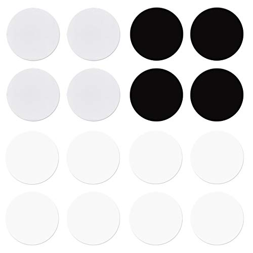 Pre-Cut 1-Inch Fusible Glass Circle Black, White, Clear, 90 COE, 16-Pack - The Essential Jewelers Sampler Pack by New Hampshire Craftworks