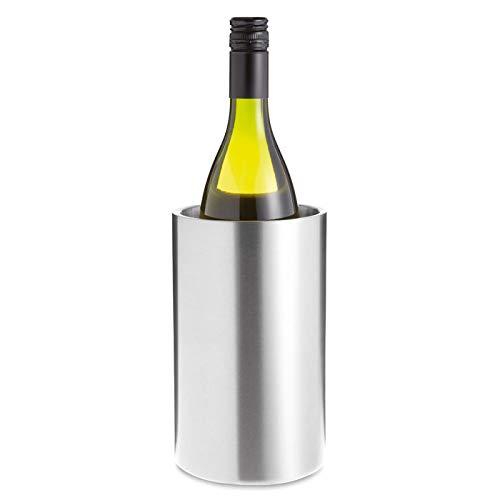 Enfriador botellas vino Acero inoxidable de doble capa, Cubitera botellas