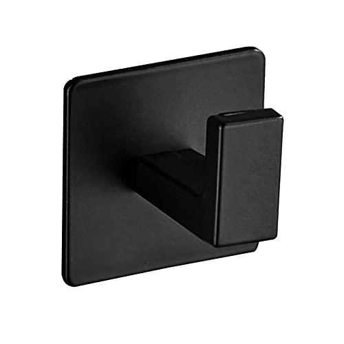Ropa libre de ropa gancho gancho gancho toalla estante cuarto de baño suspensión de aluminio anti óxido cocina gancho suspensión simple gancho para la entrada de la sala de estar ( Color : Black )