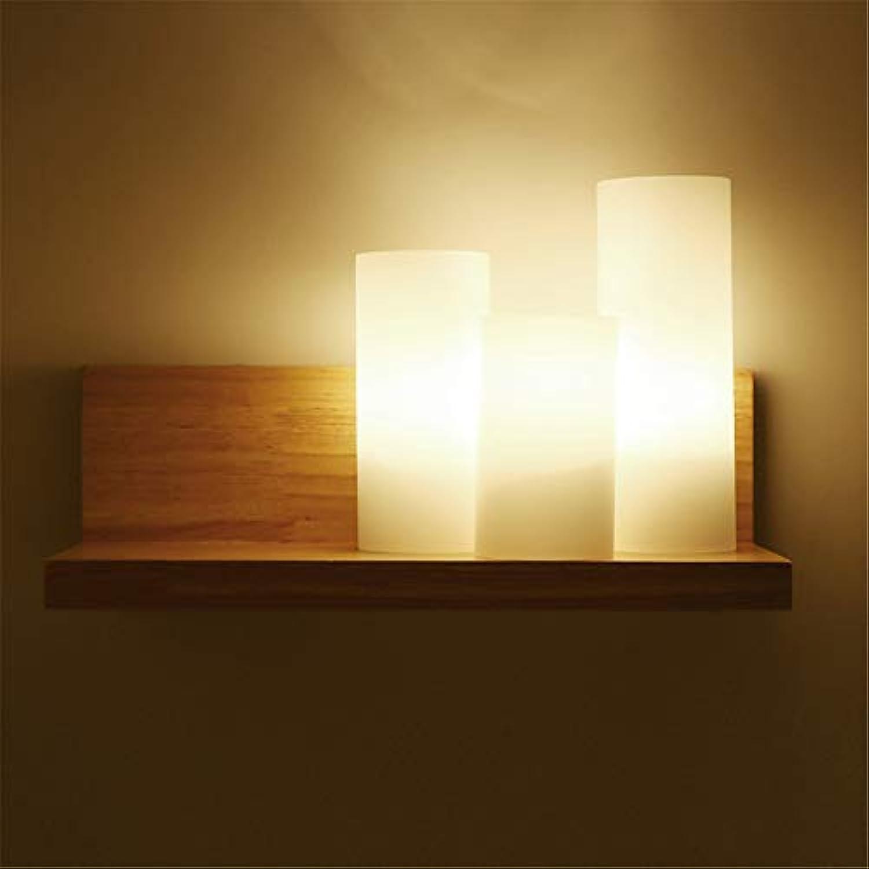 Warme Einfache Nachttischlampe Kreative Schlafzimmer Wandleuchte Treppen Gang Lichter Moderne Persnlichkeit Led Massivholz Wandleuchte (120mm  200mm) 220 V