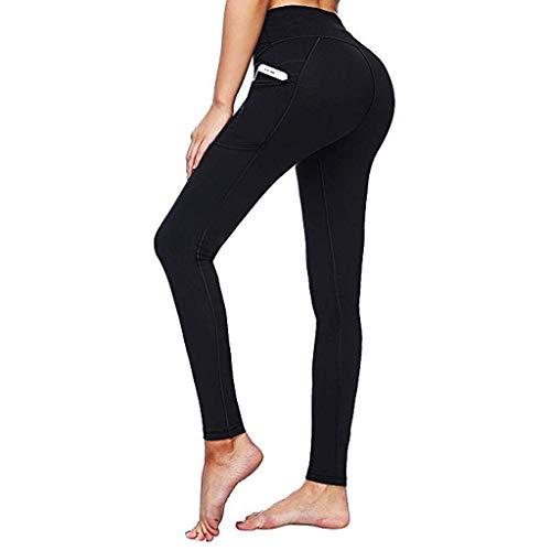 Damen High Waist Leggings Sporthose Jogginghose Tights Frauen Leggins Yogahose Push Up Fitnesshose Elatisch Trainingshose Laufenhose von LEEDY