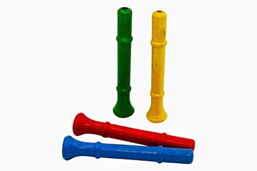 GICO Mitgebsel 4 Trompeten - Tröten aus Holz - 7940