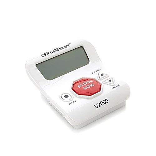 Bloqueador de Llamadas CPR V2000- bloquee Todas Las Llamadas molestas y de estafa con sólo un Clic