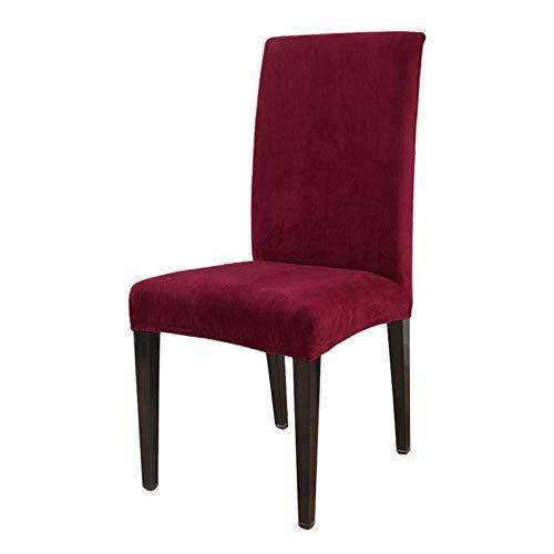 JFFFFWI 1/2/4/6 Fundas de Felpa de Terciopelo para sillas, Fundas elásticas extraíbles para sillas de Comedor con Respaldo Alto, para Restaurante, habitación, Oficina, Banquetes de Boda, Hotel (Borg