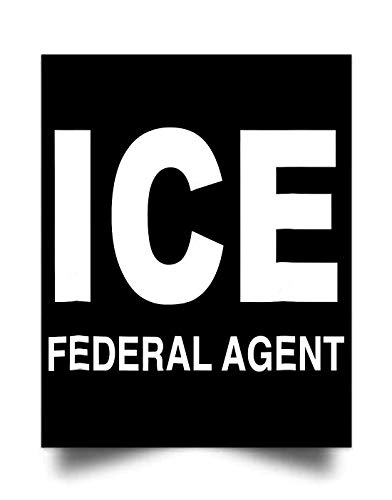 ICE Federal Agent Halloween Costume Police Immigration (24'x31') Wall Art Print Poster Home Decor