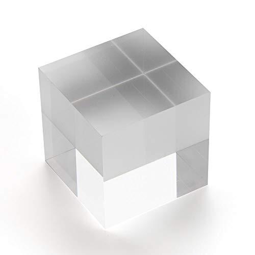 Acrylblock/Acrylwürfel 50x50x50mm transparent, rundum glänzend polierte Seitenkanten/Acryl/Acrylglas