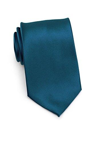 PUCCINI Uni Krawatte, Tie, Binder, Herren-/Hochzeitskrawatten, Schlips, Plastron │ 8.5cm schmal-slim │ einfarbig-unifarbig: Blaugrün