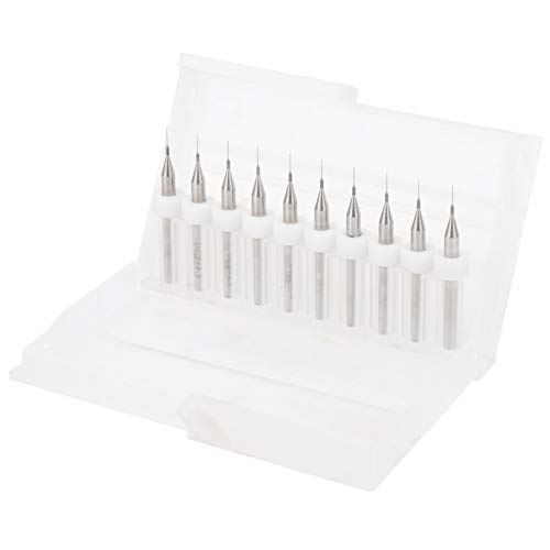 10pcs 0.2mm Cleaning Nozzle Drill Bit, Tungsten Carbide Material, Printer Nozzle Cleaning Kit, 3D Printer Accessory