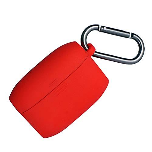 ULTECHNOVO Capa de Fone de Ouvido Sem Fio Capa de Proteção de Silicone Compatível Com Jabra Elite Active 65T Vermelho