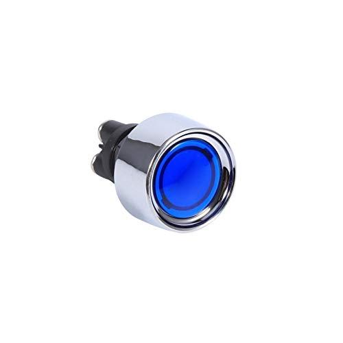 Interruptor de encendido de arranque del motor, fácil de usar Amplia aplicación Interruptor de arranque del motor de alta luminancia Botón de arranque del motor para automóvil para vehículos(azul)