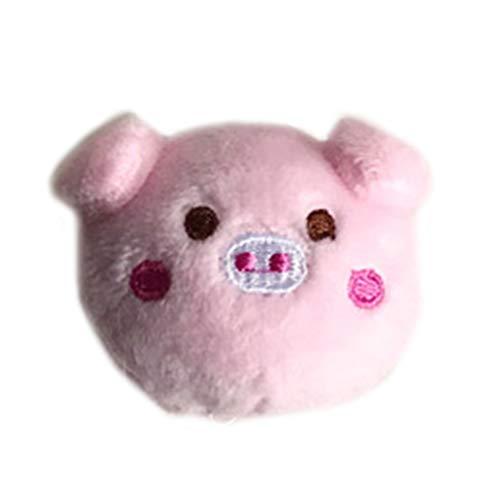 Koobysix Creatieve Leuke Cartoon Pig Jaar Vrouwen Meisjes Haar Clip Broche Pluizige Pop Kind Styling Rubber Touw Paardenstaart Houder Hoofddeksels 2