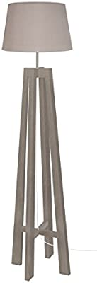 Tosel 51190 Lampadaire 1 Lumière, Bois, E27, 40 W, Gris, 40 x 156 cm