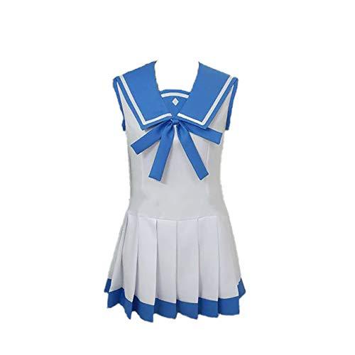 GZCOS Anime Chisaki Hiradaira Cosplay Costume Women School Uniform Dress Halloween Blue