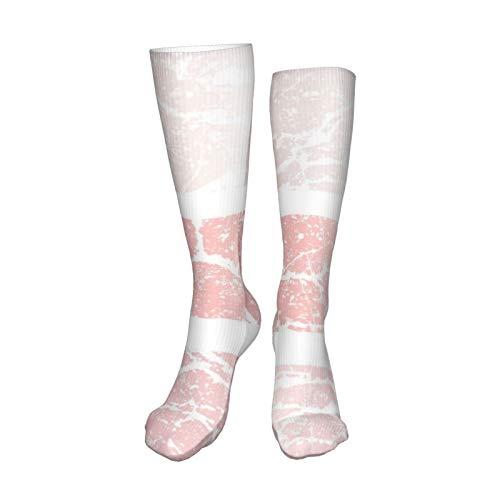 ZVEZVI Calcetines para hombres y mujeres, fondo de mármol de oro rosa Plantilla de moda metálica de oro rosa para calcetines de bota de 50 cm para correr, deportes, al aire libre