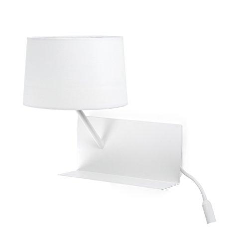 Faro Barcelona 28415 - HANDY Lampe applique blanche avec lecteur LED gauche