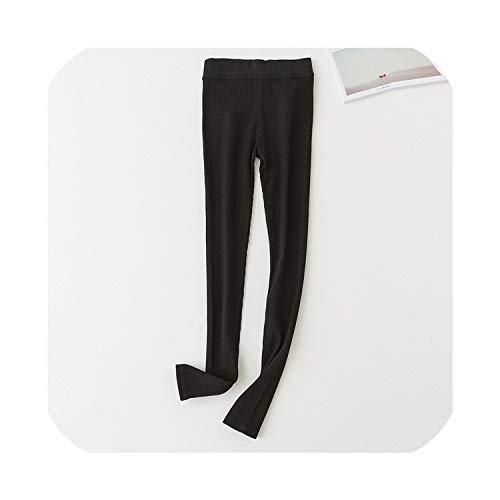 Vrouwen Zwart Grijs Leggings Skinny Broek Rib Legins Meisjes Comfort Katoen Spandex Stretch Legging Dames Leggings