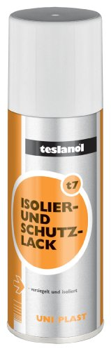 Teslanol Protective Paint Plastic Spray 200 ml, Orange, Silber