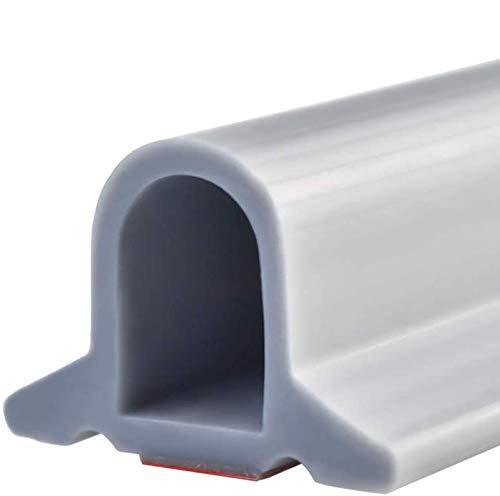 Zusammenklappbarer Duschschwellen-Wasserdamm, ideal für rollstuhlgerechte, barrierefreie Duschen, Dusche Bad Boden Dichtung Wasserdamm Duschschwelle Barriere-Wasserstopper (Grau,100 cm)