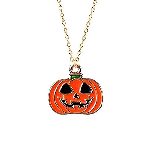 MTWERS Unisex Fashion Necklace Halloween Head Cabeza Cabeza Colgante Gargantilla Larga Hombres y Femeninos Regalos de joyería de Fiesta (Color : A30, Size : L30)