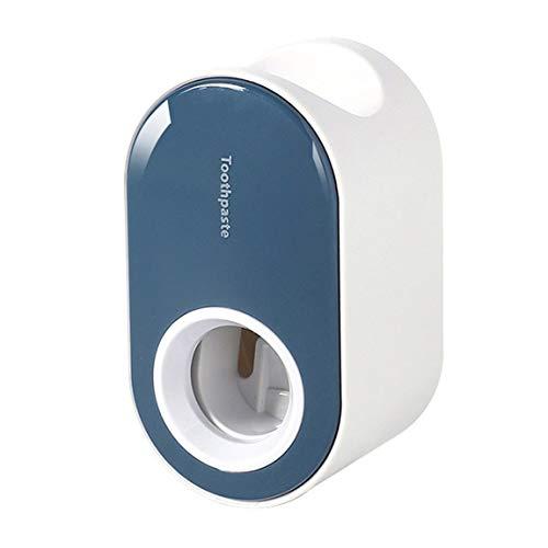 Pumprout Dispensador automático de Pasta de Dientes Montaje en Pared Soporte para Cepillo de Dientes a Prueba de Polvo Estante de Almacenamiento de Montaje en Pared Conjunto de Accesorios de baño