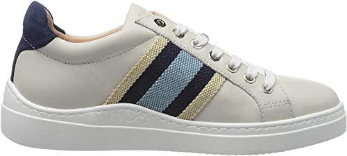 Unisa Damen FAROLA_20_NF Sneaker, Elfenbein (Ivory/Azul Ivory/Azul), 36 EU