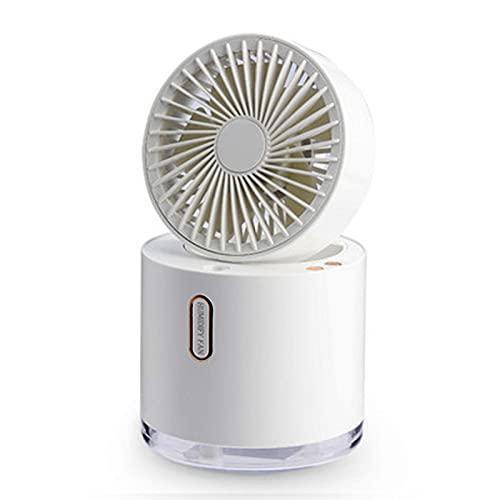 XXXD El Ventilador de humidificador Plegable de Moda y Simple, el Escritorio Puede Mover la Cabeza, Ventilador de Aerosol de Aire Acondicionado, Ventilador portátil silen White
