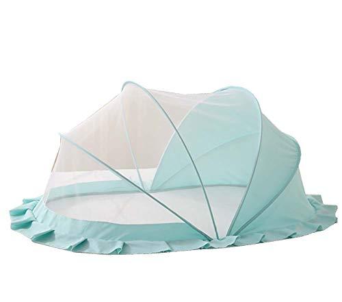 Yx-outdoor Mosquitera Plegable para bebés de Verano, Tienda de Mosquitos sin Ruido de 0 a 5 años de Edad - Sin Fondo, con sombrilla,Green,M