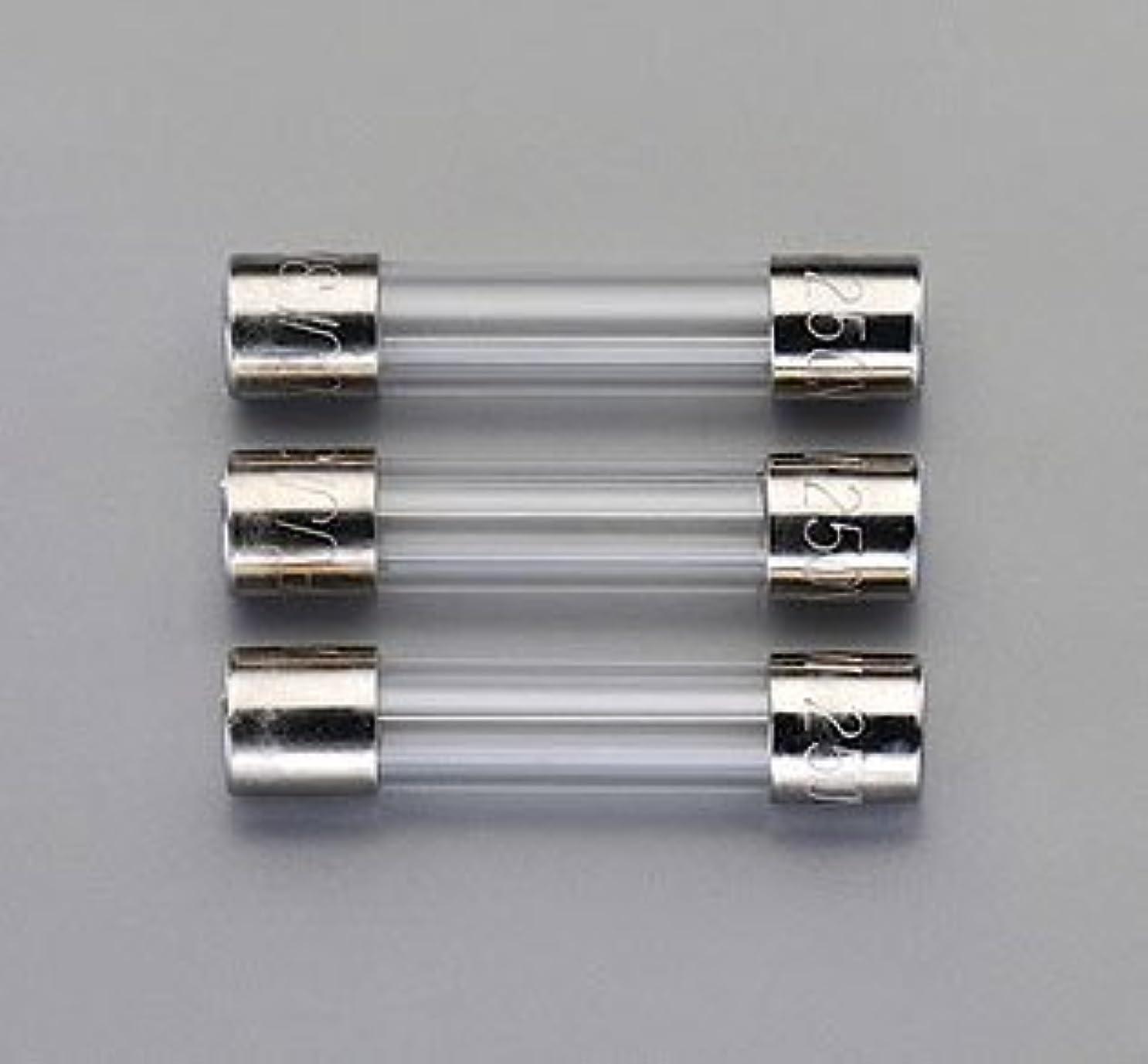 自分を引き上げるシリング公然とエスコ 125Vx5.0A/5.2mm管ヒューズ(セミタイムラグ型/3本) EA758ZW-305
