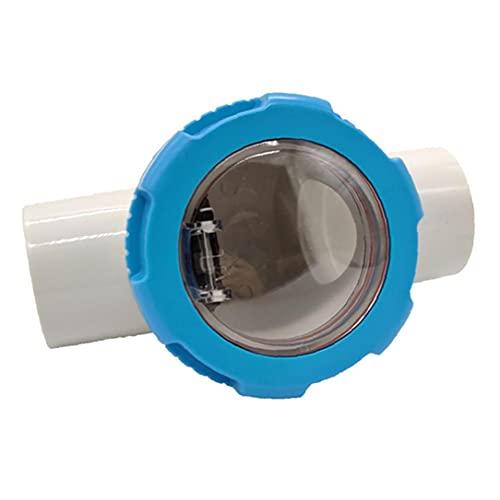 Athemeet Kunststoff-Rückschlagventil Pool Rückschlagventil Pool Rückschlagventile Praktische Zubehör Hohe Zuverlässigkeit Blau für Schwimmbad für Spa Badeteich Transparent Durable Zubehör 63mm